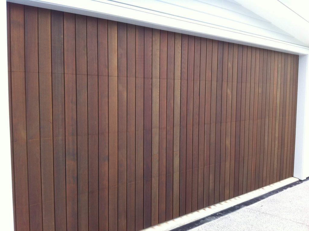 Prestige doors timber garage doors for Cedar clad garage doors