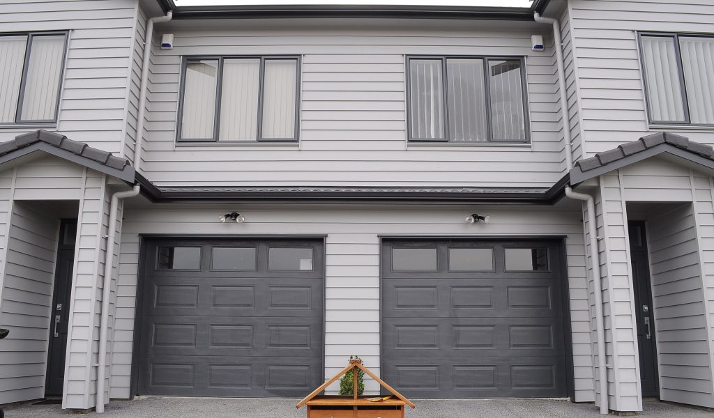Pressed Panel Garage Doors with Windows