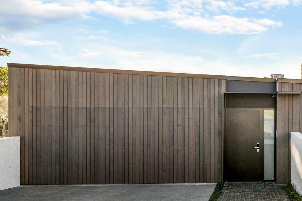 Cedar Shiplap Flushmount Garage Door