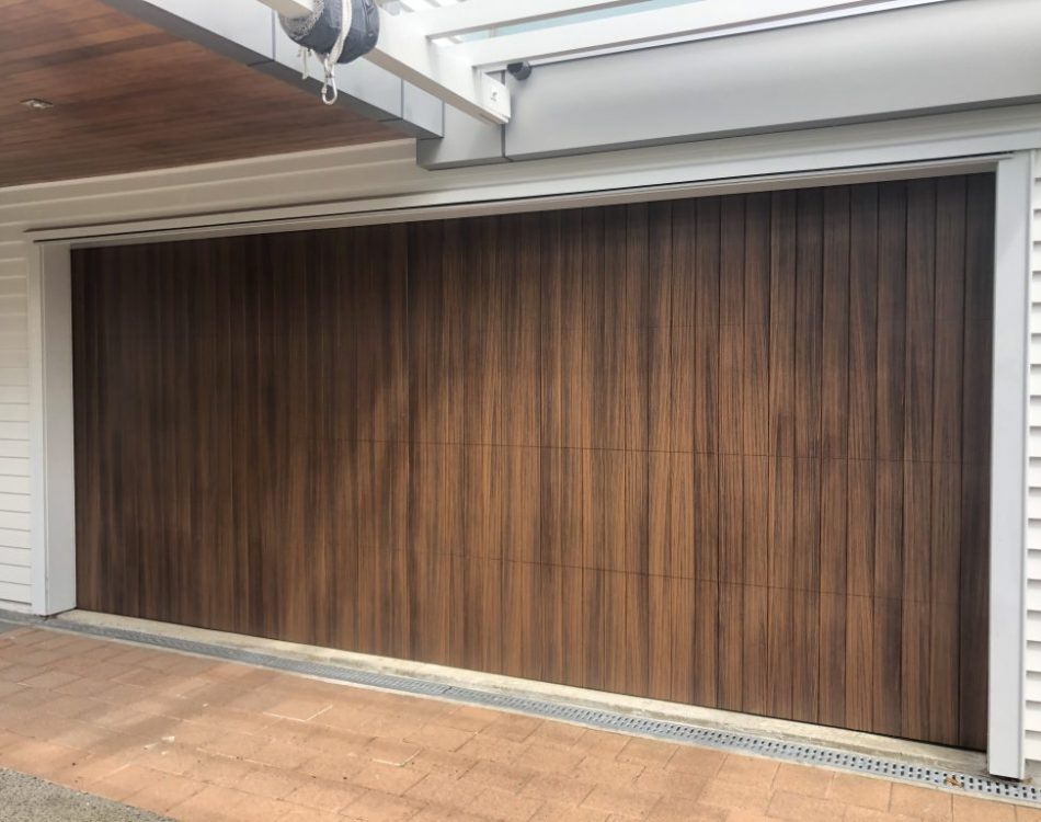 Woodgrain Aluminium Garage Door - Cedar Alternative
