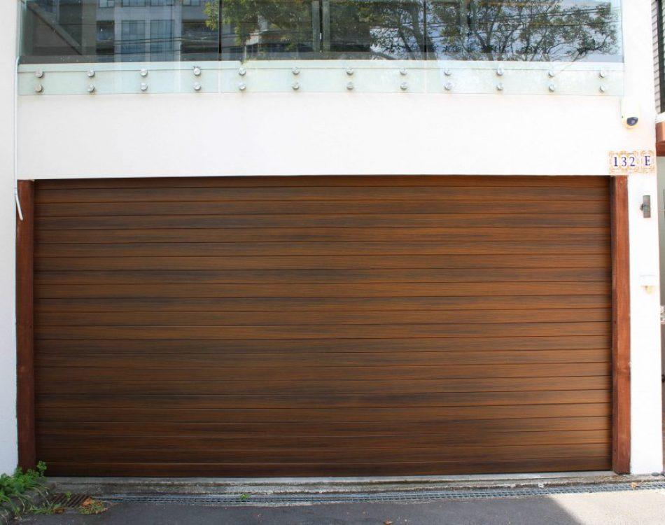 Aluminium Woodgrain Garage Door